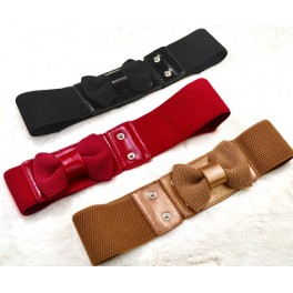 Stretchy Women Bow Tie Belts