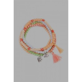 Colorful Tassels Stretch Beads Bracelets