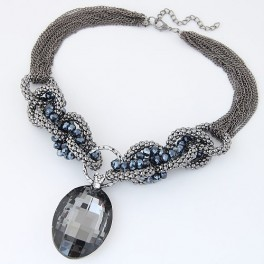 Glass Fashion Statement Necklace