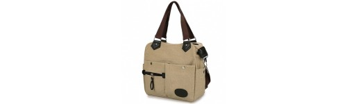 Canvas Multi Pockets Shoulder Bag